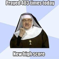 Catholic WIN. Haha.