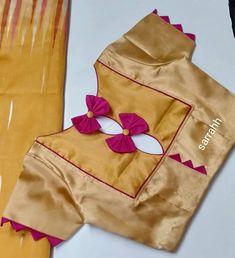 Blouse Designs High Neck, Patch Work Blouse Designs, Simple Blouse Designs, Sari Blouse Designs, Stylish Blouse Design, Blouse Patterns, Blauz Design, Traditional Blouse Designs, Churidar Neck Designs