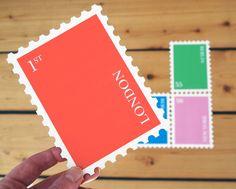 cut minimalist postcards