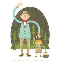 Illustration Friday: Tall by Brandi Powell Illustration