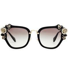 Miu Miu Embellished Sunglasses For Spring-Summer 2017
