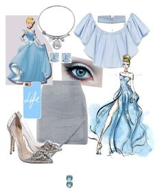 """""""Cinderela"""" by bia-jackson on Polyvore featuring Disney, Boohoo, Casetify, ASOS Curve and Ice"""