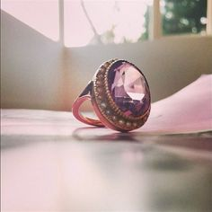 Amanda de Cadenet was given this beautiful vintage gold ring by her grandmother. #LoveGold #FutureHeirlooms