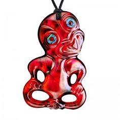 Paua Tiki Red