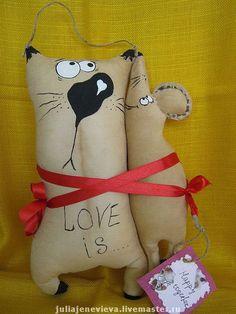 Almohadas gato y ratón