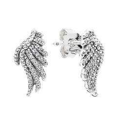 LoveMySwag PANDORA Majestic Feathers Earrings 290581CZ