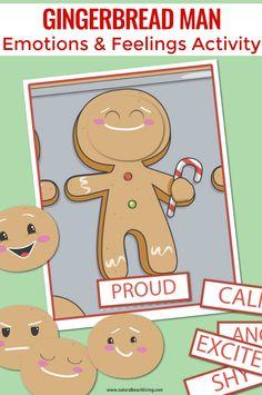 Gingerbread Man Preschool Emotions Printables, emotion cards, emotion cards printables, free printable emotion cards, Emotions Activities and Preschool Gingerbread man …