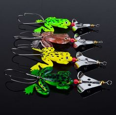 FREE 4pcs Rubber Frog Soft Fishing Lures