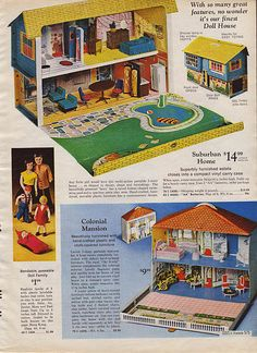1969 Sears Christmas Catalog.  I had the top dollhouse pictured!