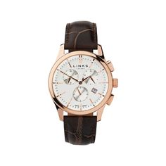 Regent Rose Gold Plated Chronograph Watch, Links of London Jewellery