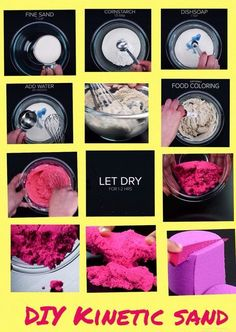 Ideas for diy baby toys sensory play dough Crafts To Do, Hobbies And Crafts, Diy Crafts For Kids, Projects For Kids, Easy Crafts, Craft Projects, Craft Activities, Toddler Activities, Diy Kinetic Sand