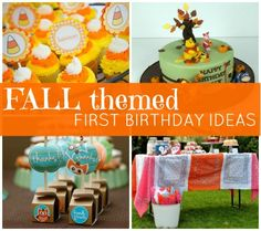 Check out these fun ideas and get inspired to throw your baby a season-inspired bash! November Birthday Party, Fall First Birthday, Fall 1st Birthdays, Pumpkin First Birthday, Fall Birthday Parties, Girls Birthday Party Themes, Birthday Bash, Birthday Ideas, Autumn Theme