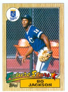 1987 topps baseball cards | Bo Jackson baseball card 1987 Topps Future Stars # 170 (Kansas City ...