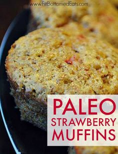 If you've got strawberries, you must make these Paleo Strawberry Muffins! They're heavenly!