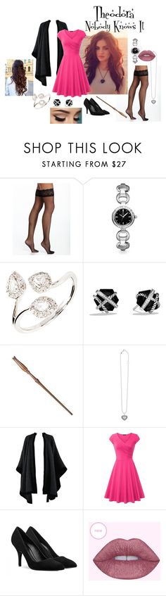 """""""Theodora - Nobody Knows It"""" by stephcpt ❤ liked on Polyvore featuring Commando, Allurez, David Yurman, Luna, Lagos and Yves Saint Laurent"""