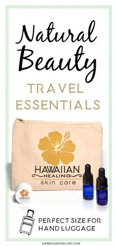 New Hawaiian Healing On The Go (OTG) Travel Kit : Natural Beauty Travel Essentials. Organic Beauty products to take with you when you travel, you can keep them in your hand luggage. Hawaiian Healing The Go Natural Beauty Tips, Organic Beauty, Beauty Care, Beauty Hacks, Diy Beauty, Beauty Secrets, Homemade Beauty, Beauty Guide, Face Beauty