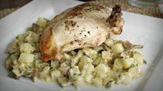 Mushroom Potato Risotto with Pan-seared Chicken