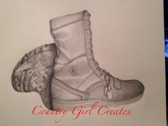 This is a drawing I've done for a friend who's in the military I used his boots and helmet as well as dog tags to draw this for him