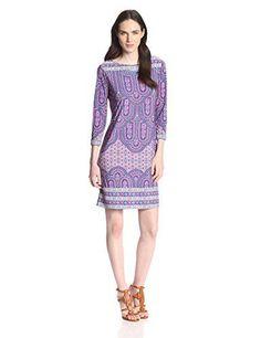 BCBGMAXAZRIA Women's Calico Printed Shift Dress