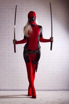 Lady Deadpool Costume Red Full Body Spandex Girl Women Female Heros Deadpool Zentai Suit Costumes Costume From Heroszentai, $26.71| Dhgate.Com