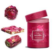 Rose chocolate truffles, nougats, and croquants from Les Petites Merveilles de Damas in Paris
