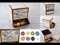 """CindraScrap: Blog Hop Stampin'Up!: Distributeur à Bonbons """"Panier de Pâques"""" et son tutoriel en vidéo."""