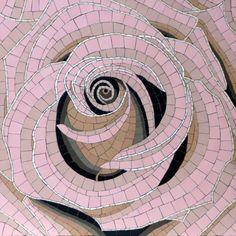 """Robert Field, """"Heart of the Rose"""" (mosaic) Mosaic Diy, Mosaic Crafts, Mosaic Projects, Mosaic Wall, Mosaic Glass, Mosaic Tiles, Stained Glass, Art Projects, Glass Art"""