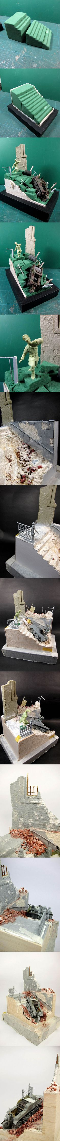 Building small diorama - step by step part Military Photos, Military Art, Diaroma Ideas, Warhammer Terrain, Modeling Techniques, Model Maker, Wargaming Terrain, Military Modelling, Military Diorama