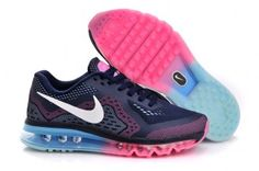 Nike Air Max 2014 Womens Dark Blue/Metallic White Pink Shoes