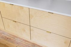 Plywood and Formica kitchen doors and drawer fronts. Create your dream kitchen for a fraction of the cost by combing our fronts with standard IKEA kitchen cabinets Plywood Kitchen, Plywood Cabinets, Plywood Furniture, Recycled Furniture, Furniture Design, Ikea Kitchen Cabinets, Kitchen Doors, Modern Cabinets, Kitchen Handles