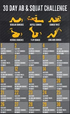 30 Day Ab & Aquat Challenge #pinaholicmyrie