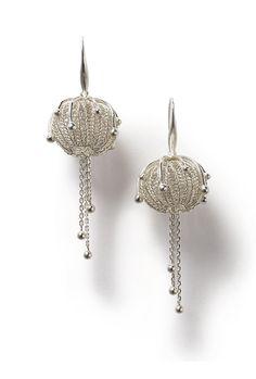 Earrings - sowonjoo studio Sterling silver Crochet