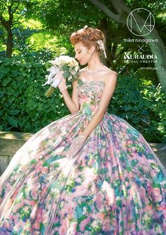 by collection of M / mika ninagawa Wedding Dress Patterns, Colored Wedding Dresses, Wedding Gowns, Flower Dresses, Ball Dresses, Ball Gowns, Pretty Outfits, Pretty Dresses, Beautiful Dresses
