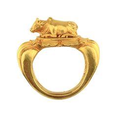 A Gold Intaglio, Parthian 247 BC – 224 AD