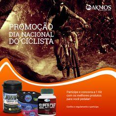 Promoção Dia do Ciclista Akmos!  Concorra a um kit exclusivo para você começar ou continuar pedalando! Participe: http://on.fb.me/1tkT6CG