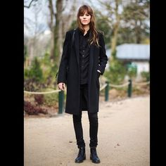 Freja in full 1.61 uniform during Paris Fashionweek.