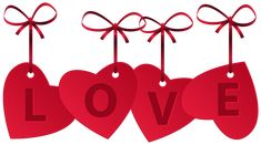 Hearts with Love Decoration PNG Clip Art Image
