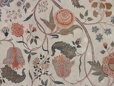 Textile design, detail. Coromandel Coast, India, early 18th century