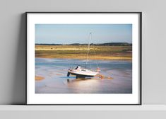 Items similar to Limited edition signed photographic print by Anna Partington - 'Low tide' - Norfolk on Etsy Epson, Norfolk, Scenery, Anna, Boat, Shop, Handmade, House, Painting