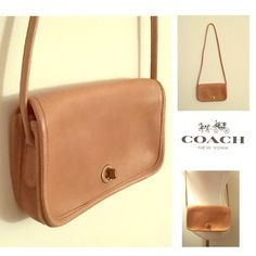 Vintage Coach Bag Nude Coach bag, small size leather bag. Preloved but in perfect condition. Coach Bags