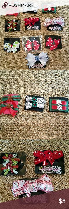Christmas hair bows barrettes Christmas hair bows barrettes  U PICK! Accessories Hair Accessories