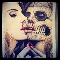 lana del rey zombie drawing i finished Zombie Drawings, Art Drawings, Pictures Of Insects, Badass Tattoos, Designs To Draw, Dark Art, Light In The Dark, Pop Art, Ldr