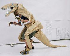 Homemade Paper Dinosaur Costume
