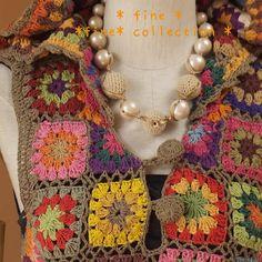 crochet motif dress detail