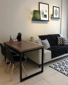 34 Nice Simple Apartment Decoration Ideas in 2020 Condo Living, Home Living Room, Apartment Living, Living Room Designs, Living Room Decor, Living Area, Apartment Decoration, Small Apartment Decorating, Simple Apartment Decor