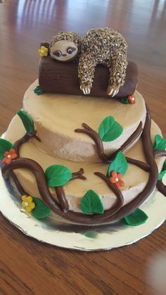 Sloth Cake #sloth #letsgetslothed #lounging #sloths #slothbirthday