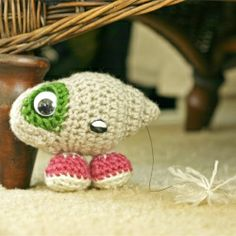 marcell the shell with shoes on!! This is so cute. Can one of my crafty friends make this for me!!