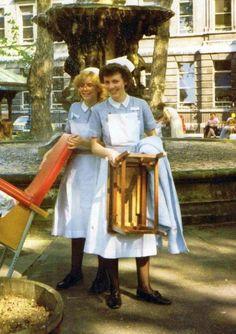 Comedy Tv Shows, National Health Service, Vintage Nurse, St Barts, School Pictures, Nurse Life, Nurse Uniforms, Saints, The Past