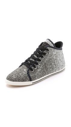 Marc by Marc Jacobs Slim Kicks Glitter High Top Sneakers