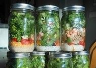 More mason jar salads :) Definitely a way to prepare for the week and make sure you have healthy food on hand! bye bye fast food :)